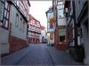 Enge Straßen in der Altstadt von Gelnhausen